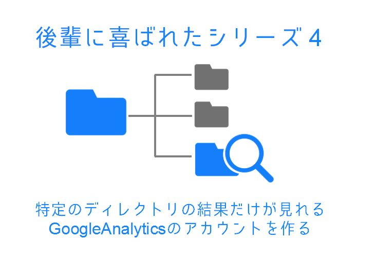 後輩に喜ばれたTipsシリーズ(4)「特定のディレクトリの結果だけが見れるGoogleAnalyticsのアカウントを作る」